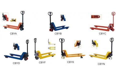 Hydraulic pallet trucks CBYA,CBYB,CBYC(F),CBYD,CBY(N)