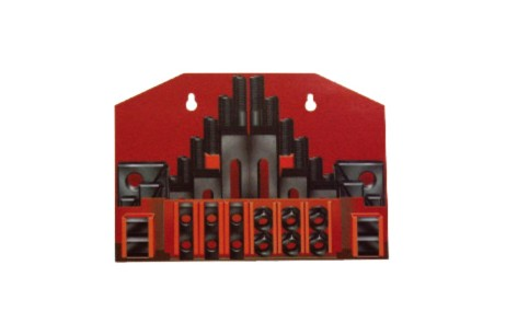 58pcs Clamping Kit with Red Metal Holder