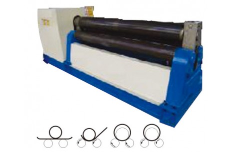 Mechanical three Rollers Symmetric Rolling Machine